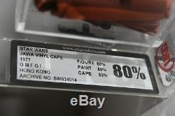 Ukg 90 Et 80 Cap Vinyle Jawa + Cape Cape Jawa Double (pas Afa) Vintage Star Wars