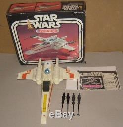 Véhicule Et Boîte De Figurine Luke Skywalker Vintage Star Wars X Wing