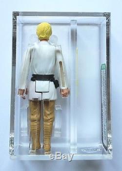 Vintage 1977 Star Wars En Vrac Luke Skywalker Farmboy Afa U85! Juste Noté