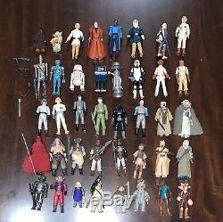 Vintage 1977 Star Wars Kenner 40 Armes À Figurines Complet Étui Rare Vader Vtg