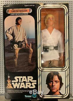 Vintage 1977 Star Wars Luke Skywalker Kenner 12 Pouces Figure Jolie Boîte Grande Forme
