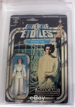 Vintage 1978 Français Meccano Star Wars 12 Retour Princesse Leia Organa // Afa 70 Ex