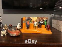 Vintage 1978 Kenner Star Wars Cantina Créature Playset Complète 10 Original Figures