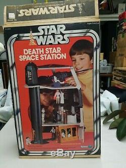 Vintage 1978 Kenner Star Wars Death Star Station Spatiale Complète Playset Withbox