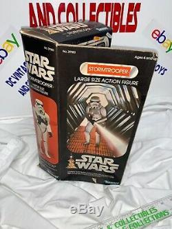 Vintage 1978 Kenner Star Wars Stormtrooper 12 Pouces Grand Action Figure Avec La Boîte