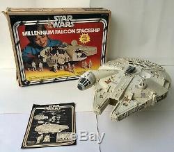 Vintage 1979 Kenner Star Wars Faucon Millenium Avec La Boîte Et Instructions Works