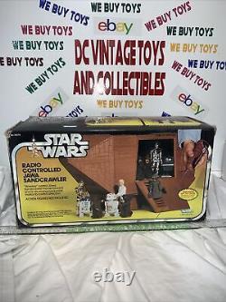 Vintage 1979 Star Wars Jawa Sandcrawler Complète Avec Box/insert L@@@k Works