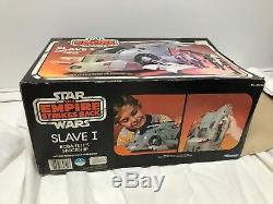 Vintage 1980 De Kenner Star Wars Esb Boba Fett Slave-1 100% Libre Complet