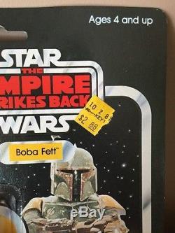 Vintage 1980 Kenner Star Wars 1982 Esb 41 Retour Boba Fett Étui En Acrylique Gratuit Look