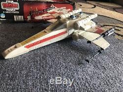 Vintage 1980 Kenner Star Wars Empire Contre-attaque Esb X-wing Avec La Boîte Et Instruire