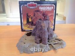 Vintage 1980's Kenner Star Wars Figure Play Set Yoda Dagobah House Boxed