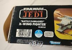 Vintage 1981 Kenner Star Wars Rotj Bataille Dommages X-wing Fighter Nouveau Dans La Boîte