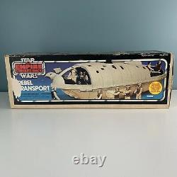 Vintage 1982 Star Wars Rebel Transport Kenner Avec Blue Box Instructions Packs Esb