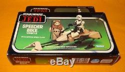 Vintage 1983 Kenner Star Wars Retour Du Véhicule De Vélo Jedi Speeder Boxed Misb