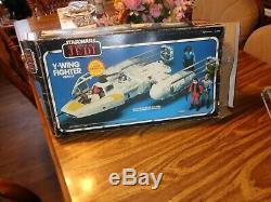 Vintage 1983 Kenner Star Wars Rotj Y-wing Fighter Véhicule Complet Et Travail