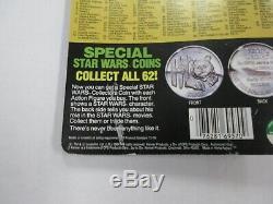 Vintage 1984 Kenner Star Wars Potf Leia Combat Poncho Figure Avec Coin Scellé Rare