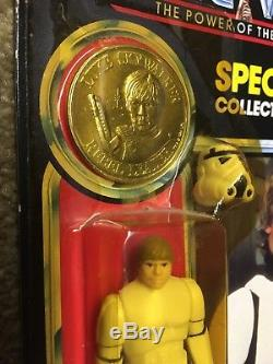 Vintage 1984 Kenner Star Wars Potf Luke Skywalker Stromtrooper Figure Moc
