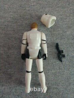 Vintage 1984 Star Wars Les 17 Derniers Luke Skywalker Stormtrooper Pièce Et Carte Potf