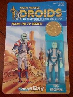 Vintage 1985 Kenner Star Wars Droids Tig Fromm Action Figure Scelles Moc