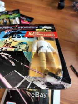 Vintage 1988 Star Wars Glasslite Luke Skywalker Brésil Cardé Ultra Rare! Lis