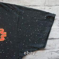 Vintage Années 90 Star Wars Dark Vador Shirt XL L Tshirt Aop All Over Print