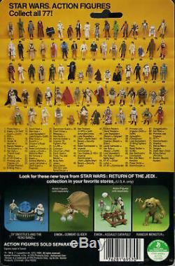 Vintage Boba Fett Rotj Retour Du Figurine D'action Jedi Moc Rare Afa Digne