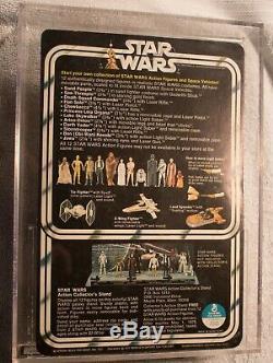 Vintage Kenner 1978 Star Wars Luke Skywalker 12 Back-c Afa 80 Unpunched