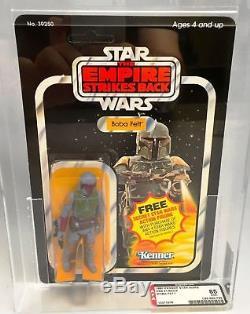 Vintage Kenner 1980 Star Wars Esb Boba Fett 21-retour Afa 85 (85-85-85)