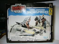 Vintage Kenner 1982 Star Wars Rebel Armoured Snowspeeder Blue Box Complète Esb