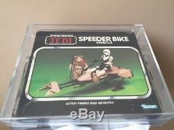 Vintage Kenner 1983 Star Wars Rotj En Boîte Speeder Bike Afa 85 Nm +