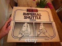 Vintage Kenner 1984 Star Wars Imperial Shuttle Véhicule Avec Boîte D'origine