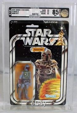 Vintage Kenner Star Wars 21 Retour-b Boba Fett Afa 85 Nm + # 16681733