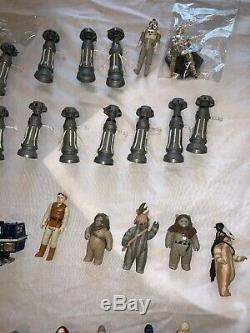 Vintage Kenner Star Wars 90 Chiffres Beaucoup D'armes Accessoires 77-85 Vader / Luke