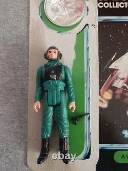 Vintage Kenner Star Wars A-wing Pilot Complet Avec Pièce Et Carte 17 Derniers Hg