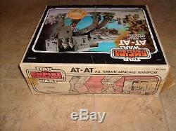 Vintage Kenner Star Wars At-at Figure Véhicule Complet W Wuns Guns & Box Clean