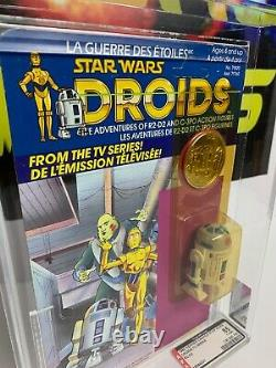 Vintage Kenner Star Wars Droids 1985 R2-d2 Pop Up Lightsaber Canadien Afa 85