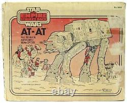 Vintage Kenner Star Wars Esb At-at Imperial Walker Avec Des Pistolets Orig Chin & Box Works