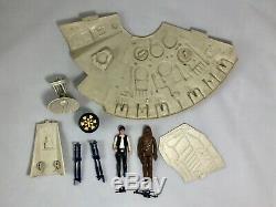 Vintage Kenner Star Wars Millennium Falcon (99%) Avec Han Et Chewie (complet)
