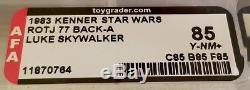 Vintage Kenner Star Wars Rotj Luke Skywalker 77 Dos Afa 85 (85-85-85)