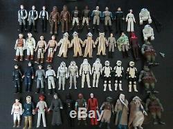 Vintage Kenner Star-wars 48 Figurines, Y Compris Darth-vader Vintage Job Lot