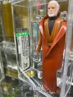 Vintage Kenner1977 Star Wars Double Ben Telescoping (obi-wan) Kenobi Afa 90 Nm + / Mt