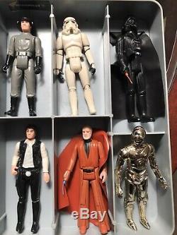 Vintage Lot Kenner 1977 Star Wars Chiffres Avec Étui Et Armes, Original 12, Plus