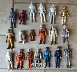 Vintage Lot Of Star Wars Figures, Weapons & Dark Vador Case 1977-1980