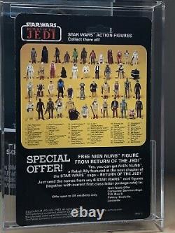 Vintage Palitoy Star Wars Rotj 45 Retour Boba Fett Bleu Clair / Knee Moc Non Peint