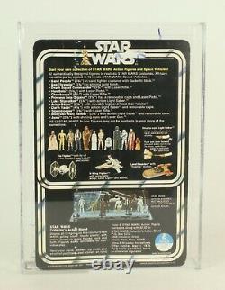 Vintage Star Wars 12 Back Princess Leia Signé Par Carrie Fisher Afa