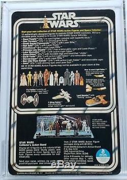 Vintage Star Wars 12 Back-a C-3po Afa 85 (80/85/85) Non Perforé! Moc Super Rare