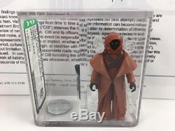 Vintage Star Wars 1977 Kenner Vinyle Cape Jawa 3,75 Figurine Afa 80+ Cib Coa Hk Coo