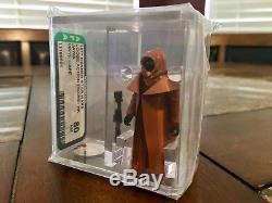 Vintage Star Wars 1977 Kenner Vinyle Cape Jawa Hk Figurine Afa 80 Nm Cib