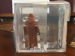 Vintage Star Wars 1977 Kenner Vinyle Cape Jawa Hk Figurine Afa 85 Nm + Cib