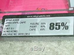 Vintage Star Wars 1977 Ukg 85 Rare Vinyle Cape Jawa Coa Loose Complete Afa